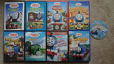 Lot of 9 Thomas the Train and Friends DVD's! Childrens Cartoons