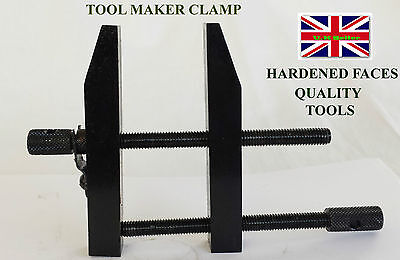 """3"""" INCH 75 mm Liner Tool Makers Parallel Clamp Hardened Faces DIY ENGINEERING"""