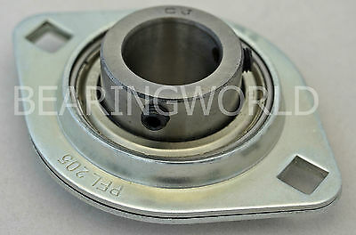 "NEW SBPFL205-16 High Quality 1"" Set Screw Pressed Steel 2-Bolt Flange Bearing"