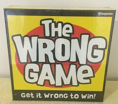 The Wrong Game Board Game Sealed New
