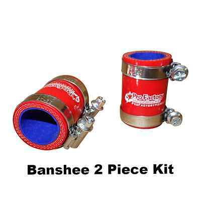 Pro Factory High Temp Yamaha Banshee 350 Exhaust Pipe Seal + Clamps Red 2 Pcs