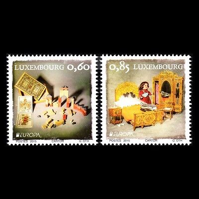 Luxembourg 2015 - EUROPA Stamps Old Toys Children - Sc 1402/3 MNH
