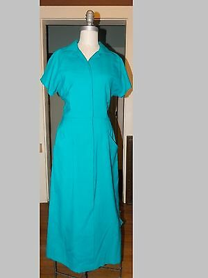 1960's MOD Vintage Dress KATIE MFG Light Blue BEAUTIFUL MADE IN USA 8 Small