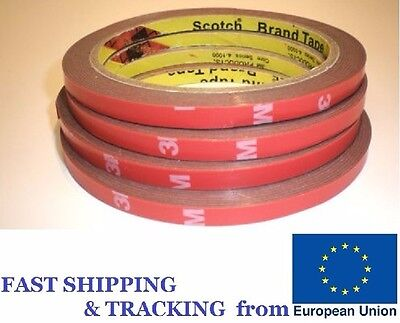 3M Double Side Adhesive Tape. 6mm Width. 1roll.