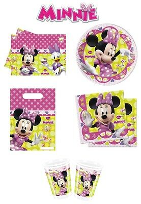 Minnie Mouse Bow Tique Birthday Party Decoration Items Tableware Supplies
