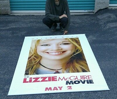 RARE Lizzie Mcguire Movie Poster HUGE LARGE BIG Collectible Disney Hilary Duff