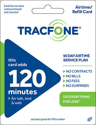 TracFone 120 Minute Plan - 90 Days/120 Minutes/120 Text/120MB Data