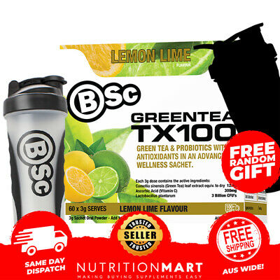 BSc Green Tea TX100 Body Science Antioxidant Weight Loss Tea +BSc Water Bottle