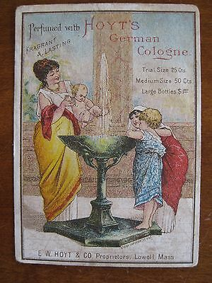 Victorian TRADE CARD -  Hoyt's German Cologne, LOWELL, MA     (3857)
