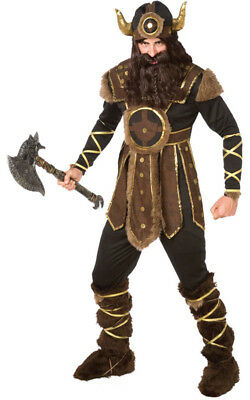 Adult Mens Vicious Viking Warrior Fancy Dress Halloween Costume