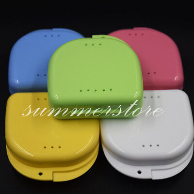 Plastic Dental Dentures Retainer Mouthguard Brace False Teeth Storage Case Box