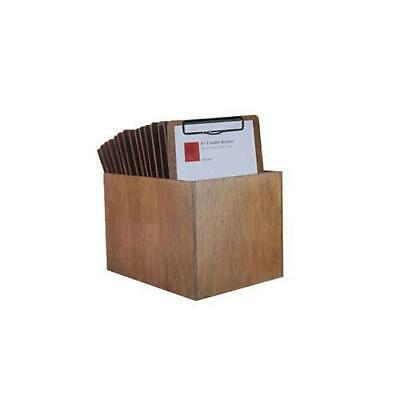 Wooden Menu Boards A5 w Top Standard Clip & Storage Box Set of 15 Menus Cafe NEW