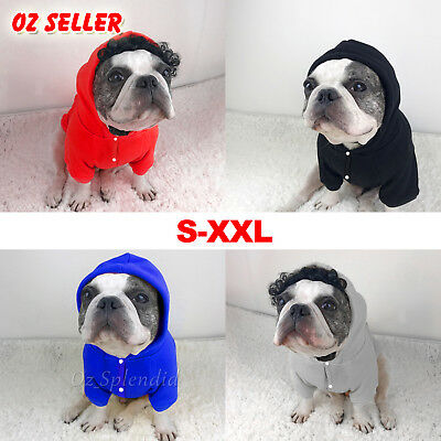 Small Dog Pet Cat Puppy Winter Hoodie Warm Clothes Knitwear Cap Jumper Clothing