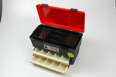 Fischer Plastic Products Tool/Sewing/Hobby Box with 2 Drawers and Tray 1H-127