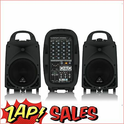 Behringer PPA500BT 500W 6-Ch Portable PA System, Bluetooth, Multi-FX