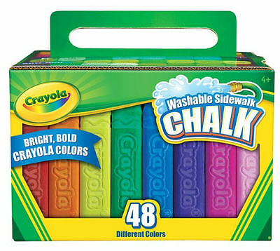 48 Washable Sidewalk Bright Bold Chalks Colors from Crayola 51-2048