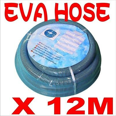 High Quality EVA 12m Heavy Duty Pool Hose with Cuff for Auto Swimming Cleaner