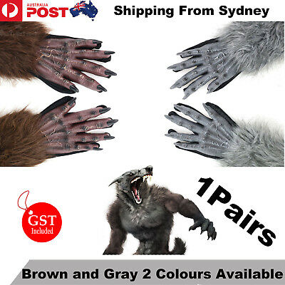 40cm Halloween Werewolf Wolf Paws Claws Cosplay Gloves Creepy Costume Party  SDY