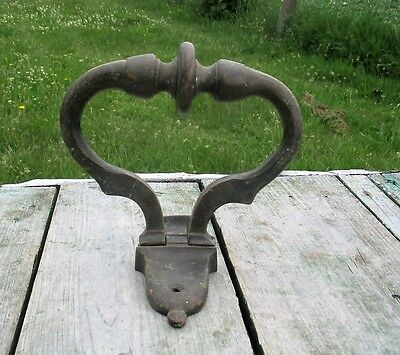Heavy Large Brass Door Knocker  Ring Architectural Gorgeous Reclaimed Authentic