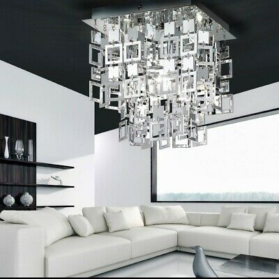 Luxury living dining room ceiling lamp chandelier hanging light lighting squares
