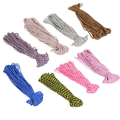 100FT Paracord 550 Parachute Cord Lanyard Rope Mil Spec Survival Rope 7 Strands