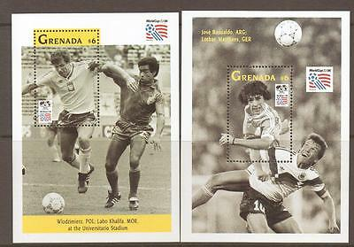 Grenada Sgms2604 1993 World Cup Football M/sheet Mnh