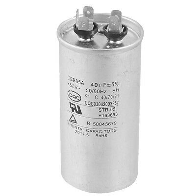 CBB65A 450V AC 50/60Hz 40uF 5% Round Electric Motor Start Run Capacitor BT