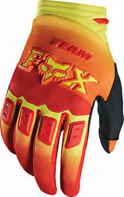 Fox Racing Mx Dirtpaw Imperial  Red / Yellow Gloves  Size Large