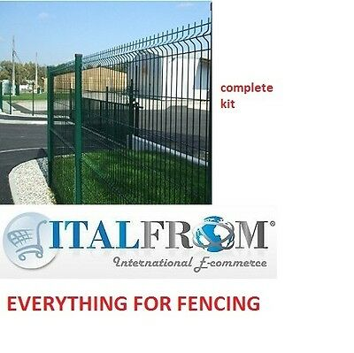 FENCE PANEL RAILINGS GREEN – COMPLETE KIT – H200cm – 20m LINEAR