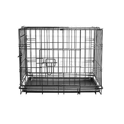Small Pet Crate Metal Cage For Dog Training Puppy Cat Folding Travel Carrier