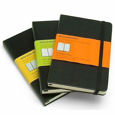 MOLESKINE NOTEBOOK Black Hard Soft Cover Writing Sketching Notemaking Note Book