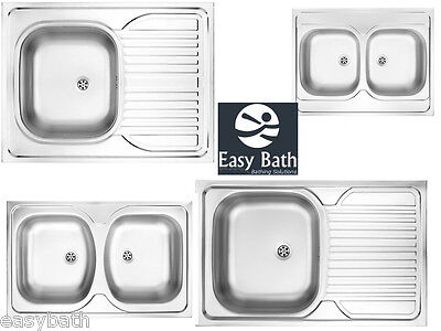 Kitchen sink, DEANTE Tango series, Satin kitchen sinks with fittings,Top mounted