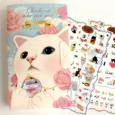 Cat Sticker Cartoon Kids Wrap Animal Label Scrapbooking Paper Craft