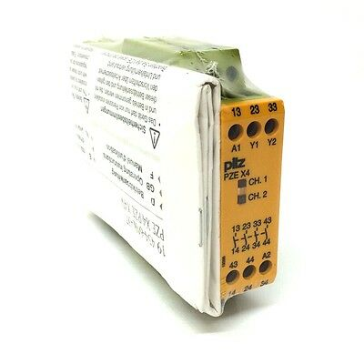 Safety Relay 774585 Pilz PZE-X4-24VDC-4N/O