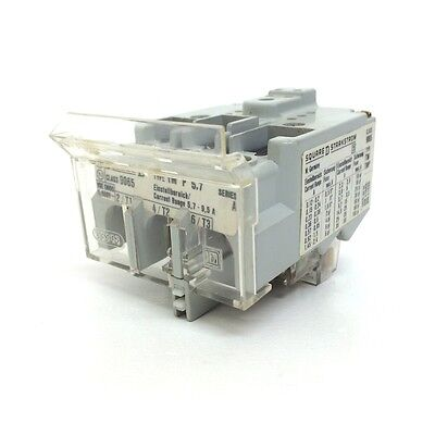 Overload Relay 9065TMP5.7 Square D 5.7-9.5A 9065-TMP-5.7