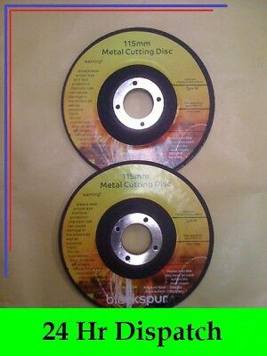 """A Pair of 115mm Metal Cutting Disc [AG401] Discs for 4"""" Angle Grinders"""