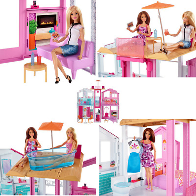 Dreamhouse House Playset Barbie Play Dollhouse Furniture Girl Doll Fancy Fashion