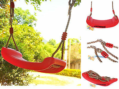 Child Garden Outdoor Plastic Swings Seat Garden Tree Swing With Hanging Rope