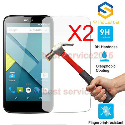 2Pcs 9H+ Premium Tempered Glass Cover Screen Protector For BLU Cell Phone