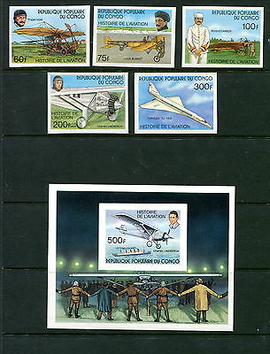 MNH Congo Imperf Set #421 - 426 (Lot #B320)