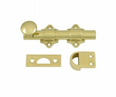 Dutch Door Surface Bolt Heavy Duty Solid Brass in 9 Finishes By FPL Door Locks