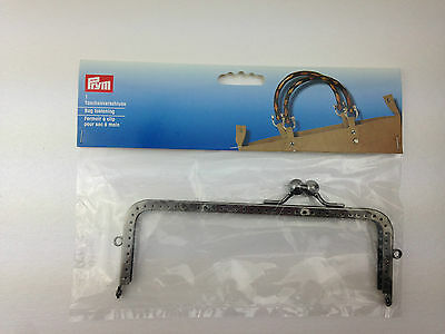Prym Bag Handle Carlina, shiny metal purse Rectangle / Square frame