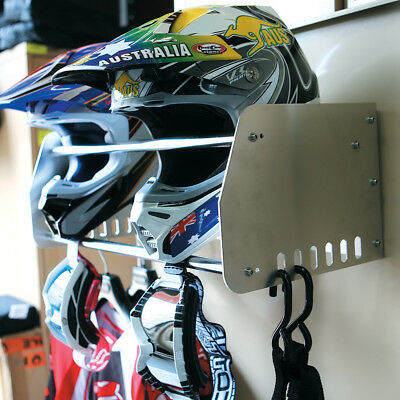 Ballards NEW MX Road Enduro Motorcycle Alloy Helmet Storage & Gear Rack Holder
