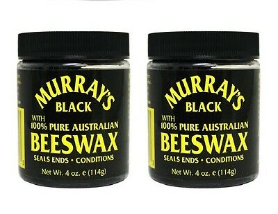 Murray's Black Pure Australian Beeswax Pomade 114g (pack of 2)