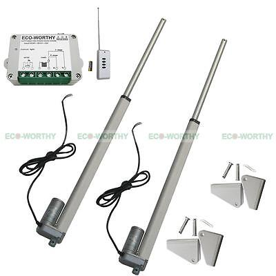 "2 16"" 12V Set Linear Actuators with Remote Controller Bracket for Door Opener"