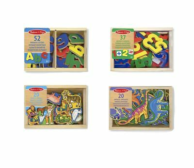 Melissa & Doug Wooden Magnetic Set Numbers Letters Animals or Dinosaurs Fridge