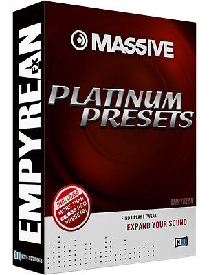 OFFICIAL Native Instruments MASSIVE PLATINUM PRESETS Patches