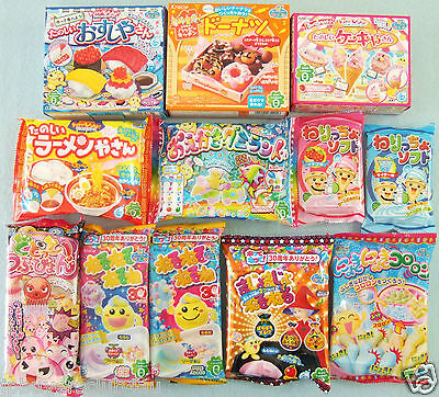 12 PCS Set Japanese Candy Kit Kracie Popin Cookin Happy Kitchen Sushi Set