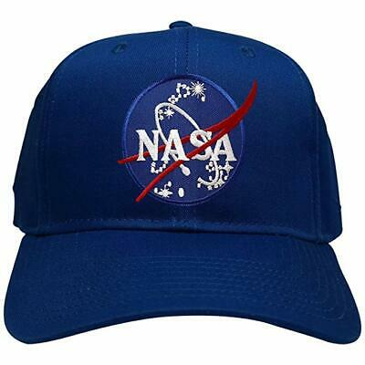 half off 90bb0 92e39 NASA Insignia Space Logo Embroidered Patch Snapback Cap - Royal Blue Hat