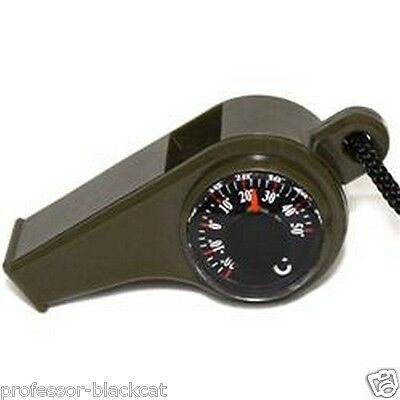 3 In 1 Compass Whistle Thermometer Ideal Educational Kit Scouts MULTI BUY OFFERS